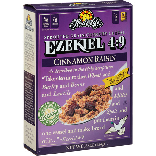 Ezekiel 4:9 Cinnamon Raisin Sprouted Grain Crunchy Cereal, 16 oz (Pack of 6)