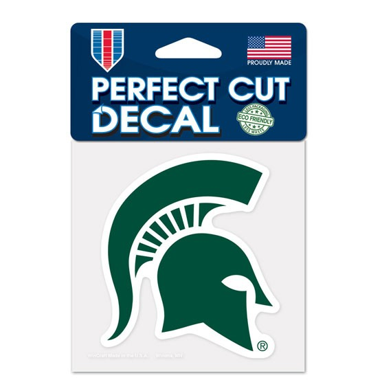 Michigan State Spartans Official NCAA 4 inch x 4 inch  Die Cut Car Decal by Wincraft
