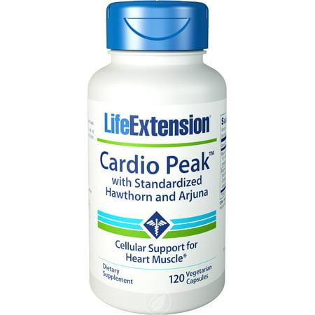 Life Extension - Cardio Peak with Standardized Hawthorn and Arjuna, 120 Veggie Caps, Pack of (Cardio Life)