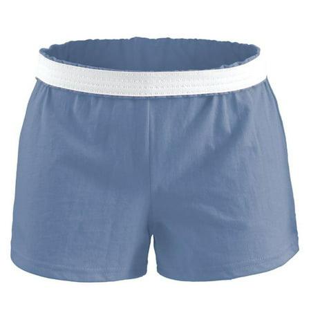 soffe girls' big authentic cheer short, columbia blue, medium (Columbia Big Girls)