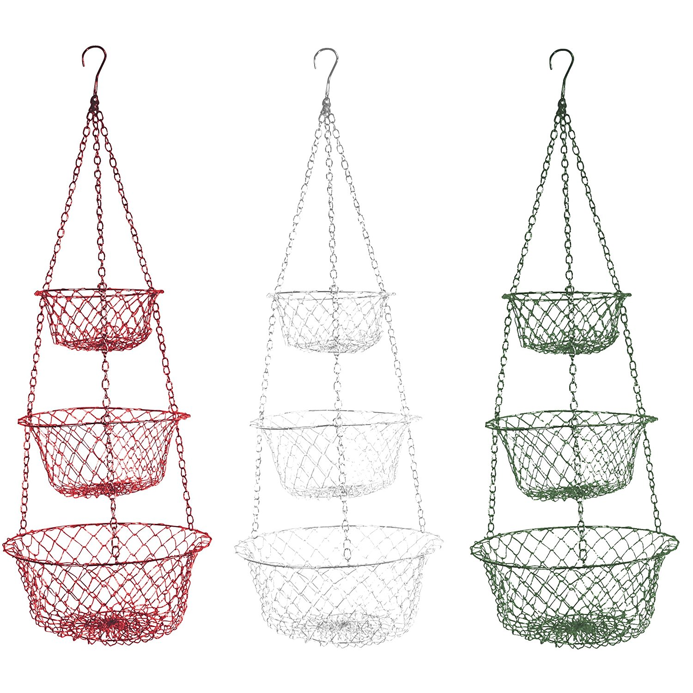 3 Tier Hanging Fruit Vegetable Kitchen Storage Basket