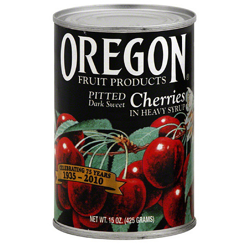 Oregon Fruit Products Pitted Dark Sweet Cherries In Heavy Syrup, 15 oz (Pack of 8)