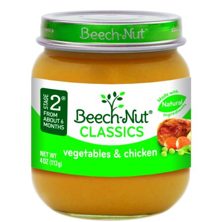 Beech Nut Classics Stage 2 Vegetables Chicken Baby Food 4 Oz