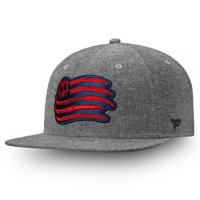 New England Revolution Fanatics Branded Chambray Emblem Adjustable Snapback Hat - Black - OSFA