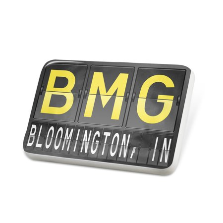 Porcelein Pin BMG Airport Code for Bloomington, IN Lapel Badge – NEONBLOND (Party City Bloomington In)