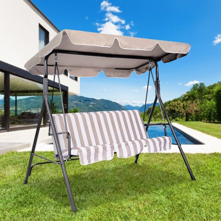 Costway Swing Top Cover Canopy Replacement Porch Patio Outdoor 77''x43'' - image 7 of 10