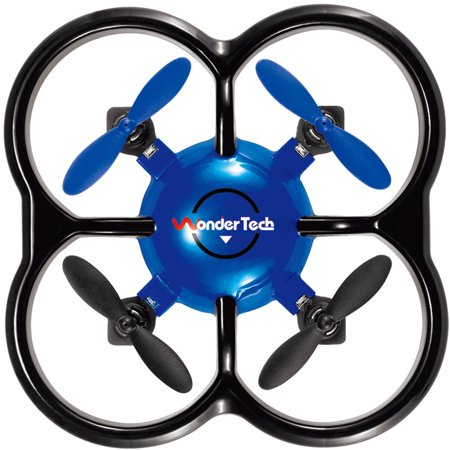 WonderTech Firefly RC 6-Axis Gyro Remote Control Quadcopter Flying Drone with LED Lights, Blue](Flying Fireflies)