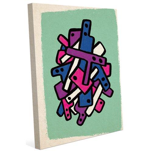 Ivy Bronx 'Jumbled Abstract Art' Graphic Art Print on Canvas