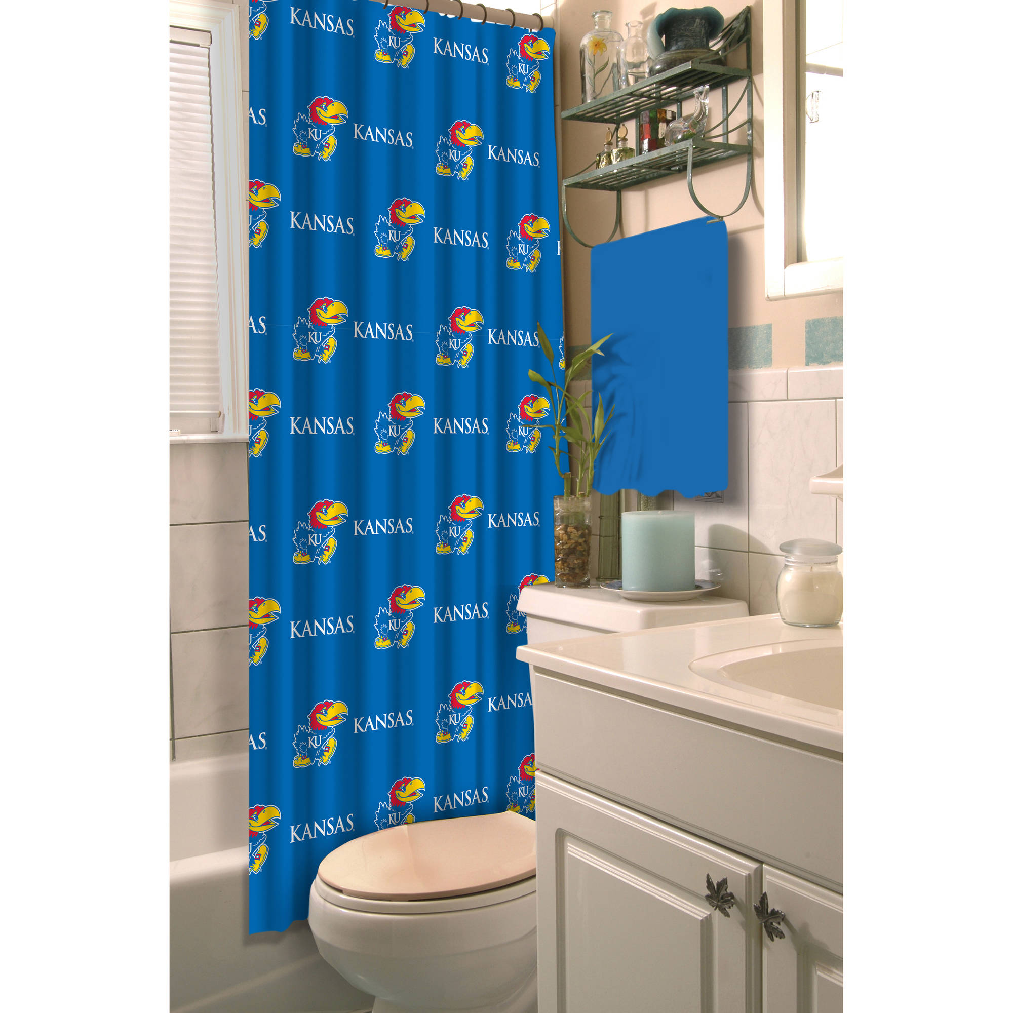 NCAA University of Kansas Decorative Bath Collection - Shower Curtain