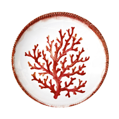 Encore Concepts Swimmingly Melamine Coral Shallow Pasta Bowl