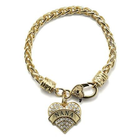 Crystal Star Charm Bracelet - Nana Gold Pave Heart Charm Bracelet