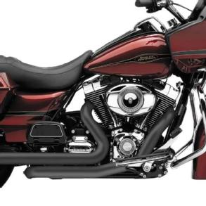 Cobra Powerport Head Pipes Black Fits 2009 Harley-Davidson Road King Classic Anniversary FLHRC