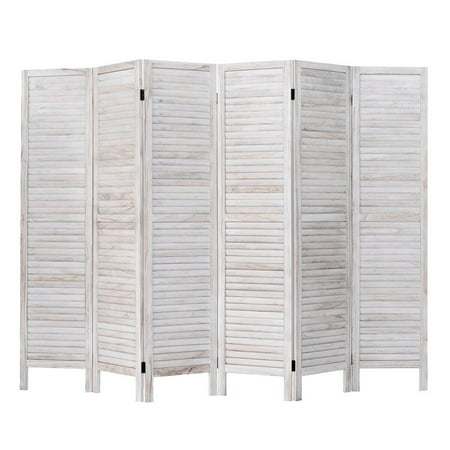 Swell Costway 67 High 6 Panel Room Divider Furniture Classic Venetian Wooden Slat Home Download Free Architecture Designs Embacsunscenecom