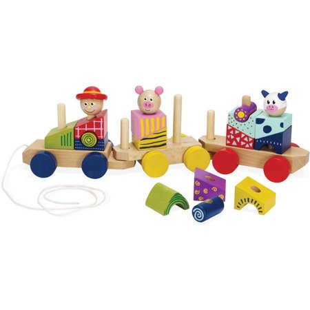 Manhattan Toy Stack & Pull Wood Train