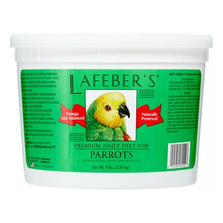 Lafebers Daily Diet - Lafeber's Premium Daily Diet for Parrots, 5 Lb
