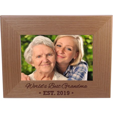 World's Best Grandma EST. 2019 4-inch x 6-Inch Wood Picture