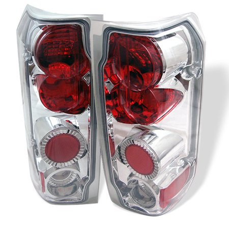 Fits 89-96 Ford F-150 F-250 Bronco Pickup Truck Chrome Clear Tail Light Lamp - Chrome Talis Single