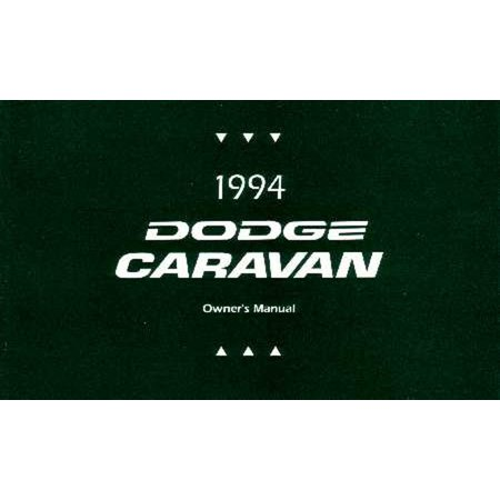 Bishko OEM Maintenance Owner's Manual Bound for Dodge Truck Caravan 1994 Dodge Caravan Car Owners Manual