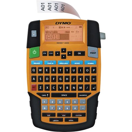 Dymo, DYM1835374, Rhino 4200 Soft Case Labelmaker Kit, 1 Each, Yellow