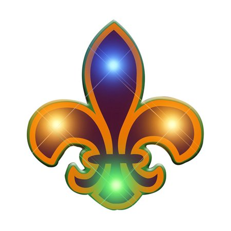 Fleur De Lis Flashing Body Light Lapel Pins