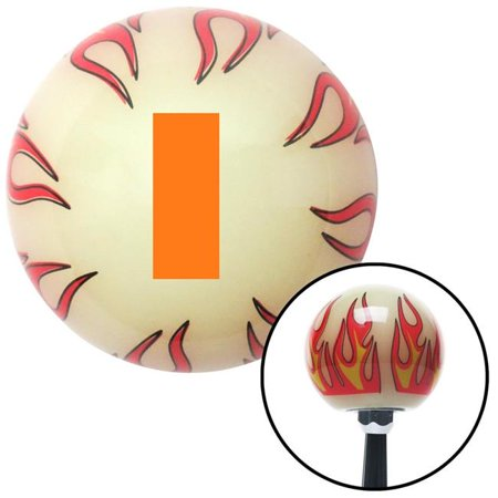 Orange Officer 01 & 02 Ivory Flame Shift Knob with M16 x 1.5 Insert Shifter Auto Brody - image 1 de 1