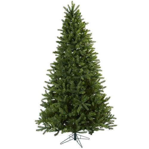 Nearly Natural Nearly Natural 7.5' Green Rembrandt Artificial Christmas Tree with 650 Clear Lights with Stand