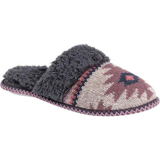 Womens' Knit Pop Scuff Slipper with Pom