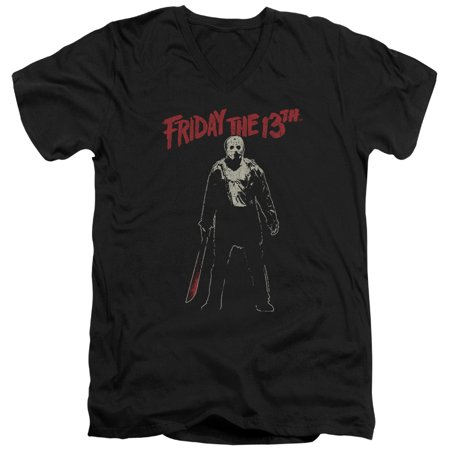 Friday The 13Th - Chchch Ahahah - Slim Fit V Neck Shirt - Large