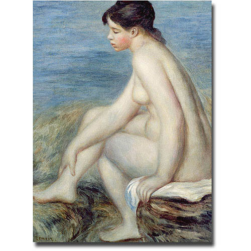 "Trademark Fine Art ""Seated Bather"" Canvas Wall Art by Pierre Renoir"