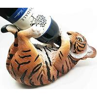 Kitchen Decor Gift Striped Bengal Tiger Tanker Oil Wine Bottle Holder Figurine Statue
