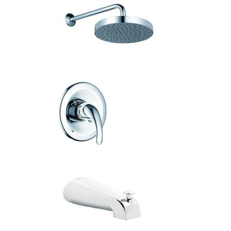 Sheffield Home Single Handle Rain Shower and Tub Faucet, Polished (Tub Shower Faucet)