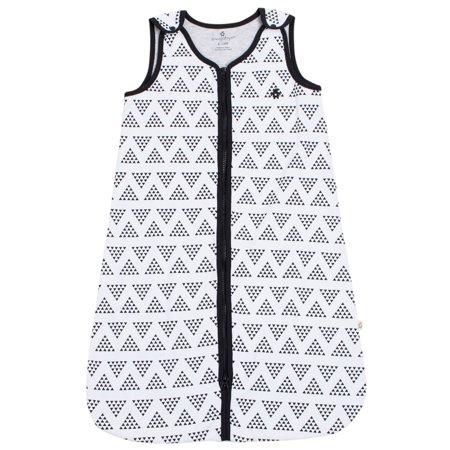 newest 7d922 5a99a Snugabye Baby Unisex Sleep Sack 100% Cotton Black and White Chevron  Wearable Blanket