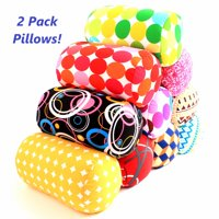2 Pack Bookishbunny Micro Bead Roll Bed Chair Car Cushion Neck Head Soft Support Back Pillow