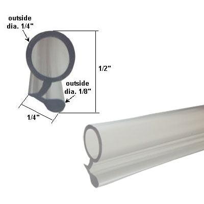 Clear Vinyl Shower Door Bulb Water Seal 84 In Long