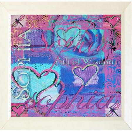 Buy Art For Less \'Sophia Meaning Full of Wisdom Hearts\' Framed ...