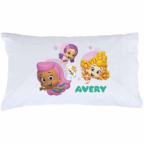 Personalized Bubble Guppies Girls and Guppy Puppy Pillowcase