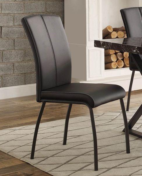 Homelegance 5155S Upholstered Dining Chair Black Bi-Cast Vinyl Set of 2