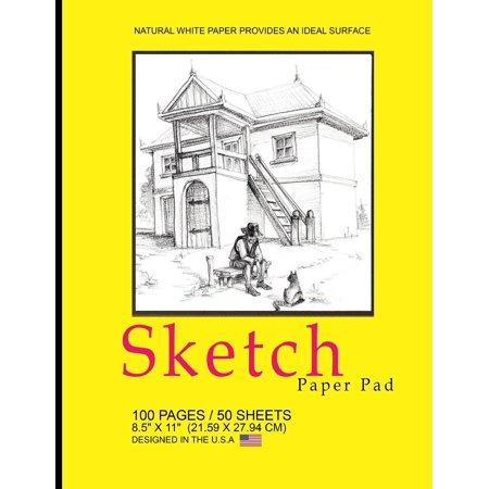 Classic Pad - Sketch Paper Pad: Classic Sketch Pad Notepad, 8.5