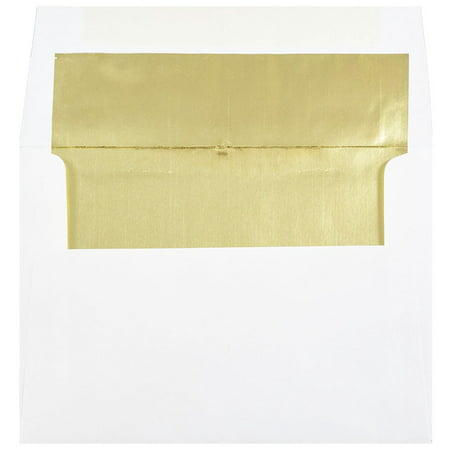 jam paper a7 foil lined invitation envelopes 5 1 4 x 7 1 4 white