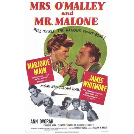 Posterazzi MOV258295 Mrs. O Malley & Mr. Malone Movie Poster - 11 x 17 in. - image 1 of 1