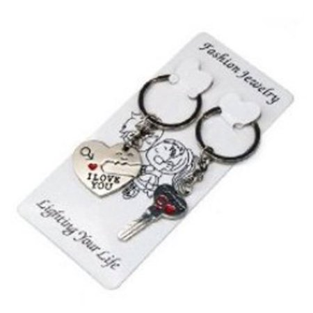 Key To My Heart Ring (World Pride Key to My Heart Cute Couple Keychain Love Keychain Key)