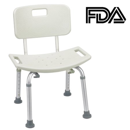 Zimtown Tool-Free Assembly Spa Bathtub Adjustable Shower Chair Seat Bench with Removable Back - Bridal Shower Chair