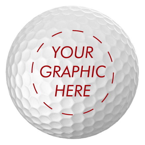 Personalized Customizable White Golf Balls (set of 6)