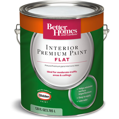 Better Homes and Gardens Interior Flat Paint, 1 Gal