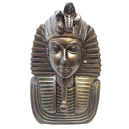 EGYPTIAN PHARAOH KING TUT BUST MASK STATUE TUTANKHAMUN FIGURINE IN BRONZE PATINA](Egyptian Pharo)