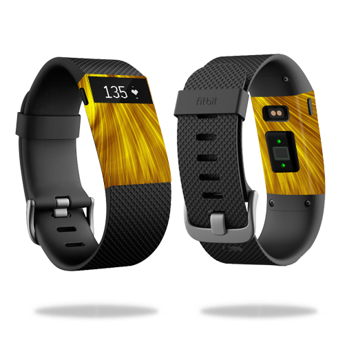 Skin Decal Wrap for Fitbit Charge HR cover skins sticker watch Golden
