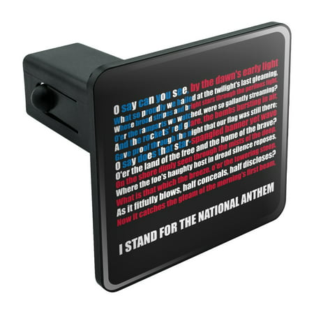 Frag Plugs (I Stand USA National Anthem Star-Spangled Banner American Flag Patriotic Tow Trailer Hitch Cover Plug Insert 1 1/4 inch (1.25