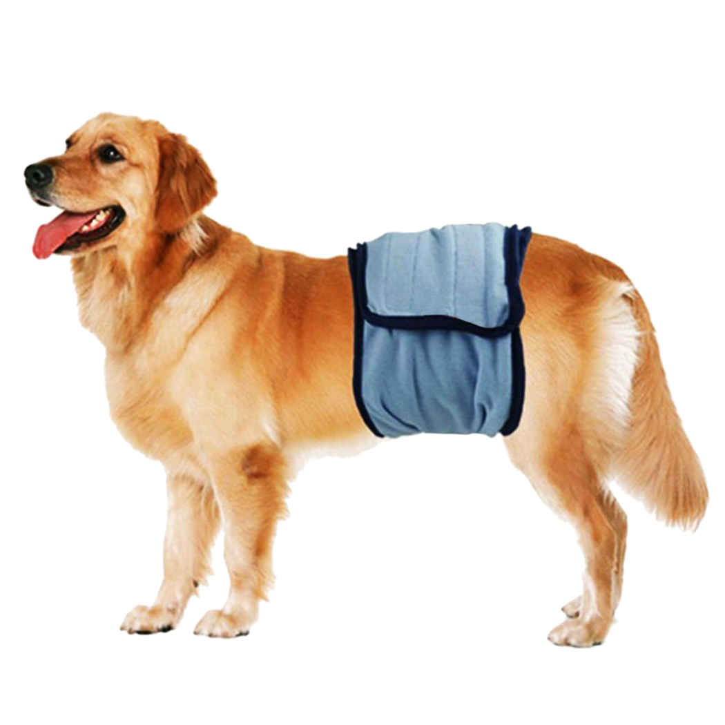 Pet Diaper,Legendog Blue Reusable Breathable Dog Belly Band Dog Wrap for Dogs & Cats