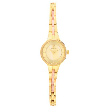 Invicta 23321 Womens Gabrielle Union Yellow Steel And Pink Resin Bracelet Watch And Bangle Bracelet Set