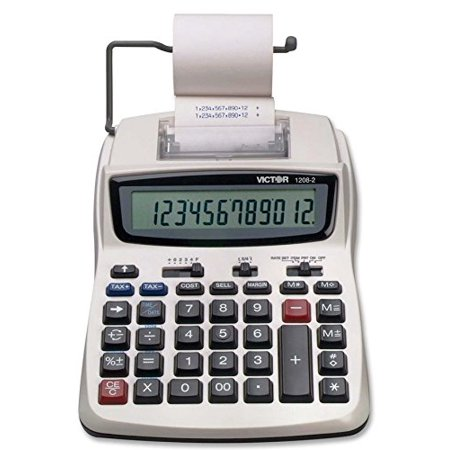 1208-2 Business Calculator, Other functions include: time/date, automatic tax keys, item count, date/non-add key, change sign key, percent key,.., By Victor